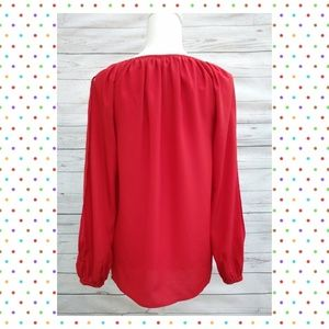 MICHAEL Michael Kors Tops - 💰XS MICHAEL-Michael Kors Red Long Sleeve Blouse